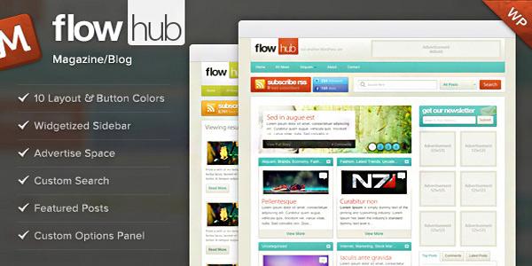 Flowhub WordPress Theme Download | Responsive Wordpress themes 2014 ...