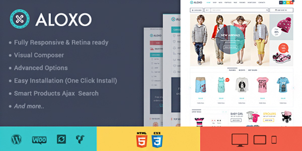 Aloxo - Responsive WooCommerce Themeforest 2015 Theme free download