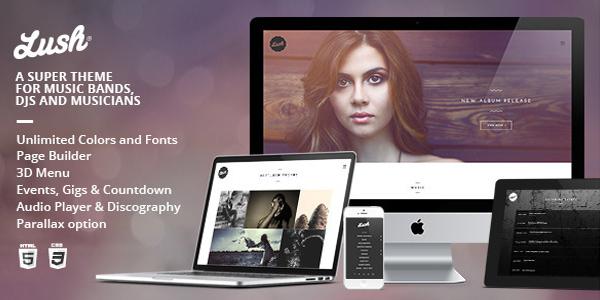 Lush - Music Band & Musician WordPress Themeforest 2015 Theme free download